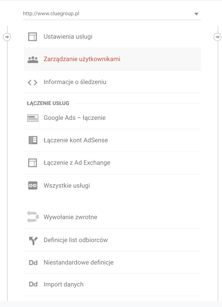 google analytics nowy uzytkownik