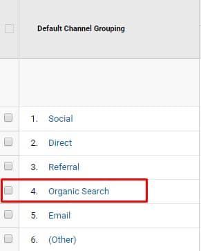 Organiczne wyszukiwanie - Google Analytics