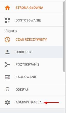 Administracja - Google Analytics