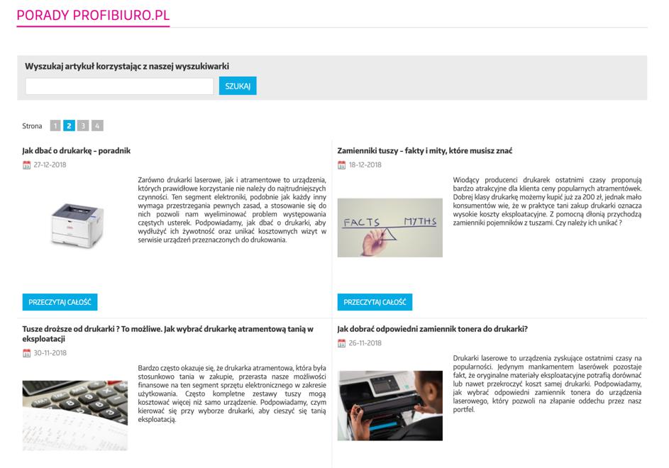 blog firmowy w sklepie internetowym