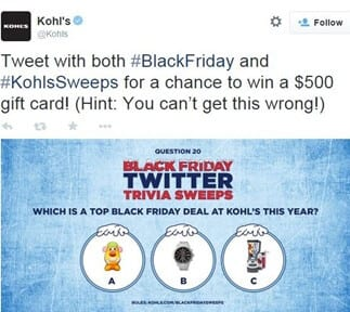 Black Friday - Kohl's