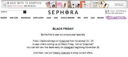 Black Friday - Sephora