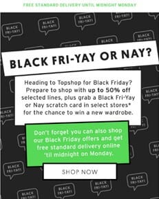 Black Friday - Top Shop